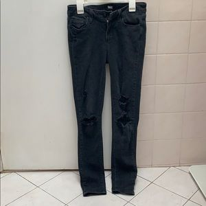 """Faded Black PAIGE Jeans """"Verdugo Ankle"""" Style"""